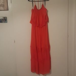 Red maxi. Never worn outside